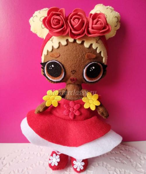 Выкройка кукла Лол.